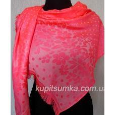 Женский палантин розовый из вискозы 78Т0