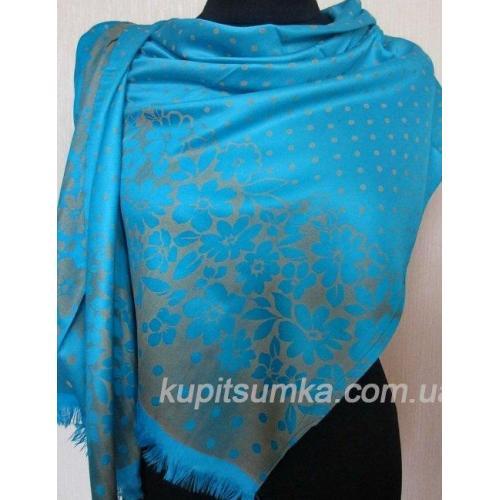 Женский палантин из вискозы KT135 Голубой