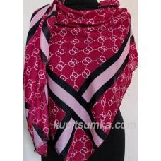 Женский палантин светло - бордового цвета из вискозы и хлопка копия бренда