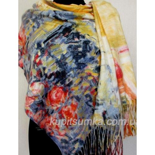 Стильный женский палантин из пашмины Разноцветный