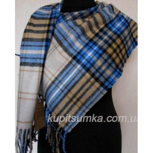 Женский кашемировый шарф в шотландку