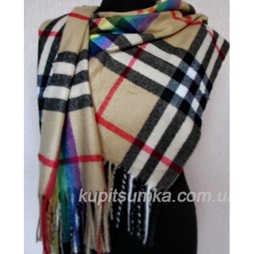 Кашемировый тёплый шарф в британском стиле