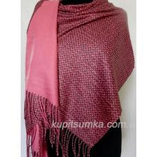 Женский палантин из кашемира 46Т2 Розовый