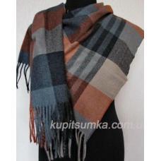 Комфортный мягий кашемировый шарф в шотландку