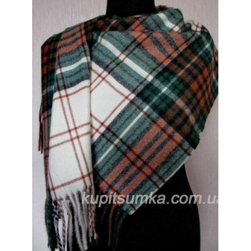 Мягкий кашемировый шарф в клетку - шотландку