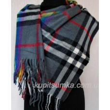 Разноцветный кашемировый шарф в шотландку