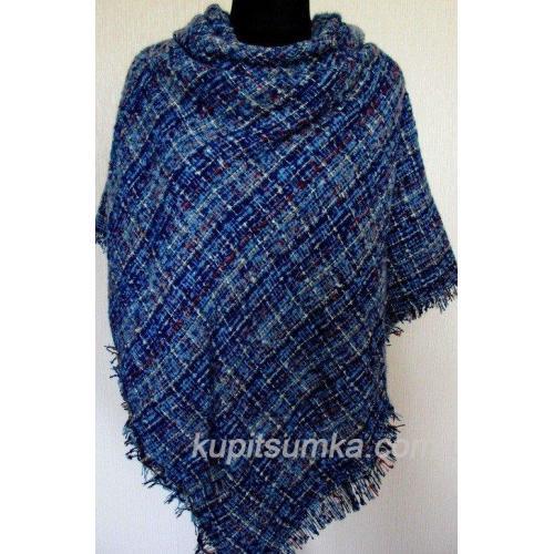 Стильный тёплый шерстяной платок для женщин, крупная клетка 32Т7