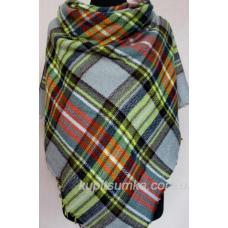 Женский теплый платок Cashmere KT202-9 Серый