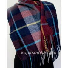 Классический кашемировый шарф в шотландку Разноцветный