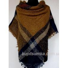 Женский теплый платок KT209-4 Рыжий