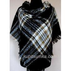 Женский тёплый платок из пашмины KT211 Черный