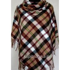 Модный клетчатый платок из мягкой пашмины Коричневый