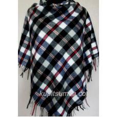 Модный клетчатый платок из мягкой пашмины