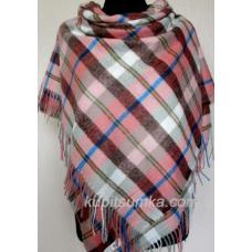 Модный клетчатый платок из пашмины
