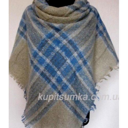 Теплый кашемировый платок из мягкого букле