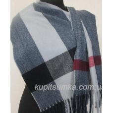 Элегантный кашемировый шарф в шотландку