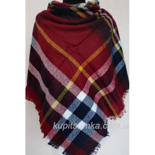 Женский платок из шерсти KT212-1 Бордовый