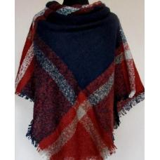 Женский теплый платок из мягкого кашемира клетка 61Т2