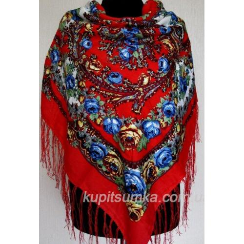 Женский украинский платок 156T Красный