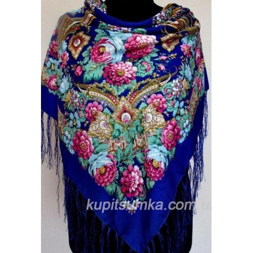 Украинский женский платок синий 57Т6
