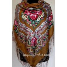 Очаровательный украинский платок Роксолана Кэмел