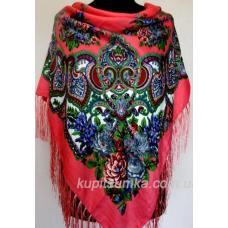 Женский платок в национальном стиле 216T Коралловый