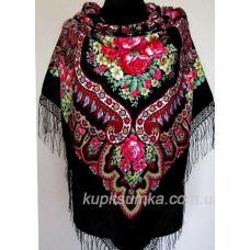Очаровательный черный украинский платок Роксолана