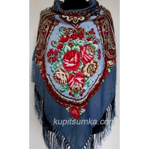 Украинский национальный платок синий 52Т1-541