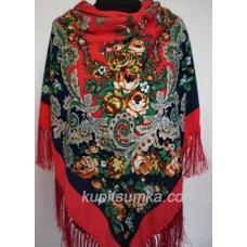 Роскошный цветной украинский платок Красный