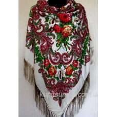 Стильный украинский платок цвета шерсти