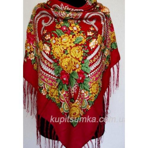 Традиционный украинский платок Красный 56Т0