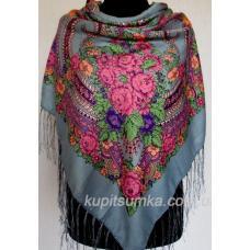 Традиционный украинский платок Серый