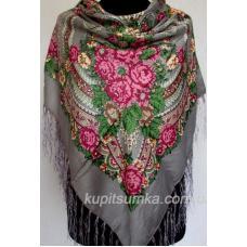 Традиционный украинский платок с оригинальным цветочным узором