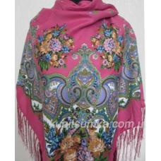 Украинский шерстяной платок Маричка Розовый
