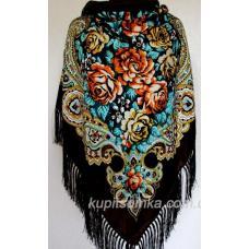 Украинский шерстяной платок коричневый 50Т3