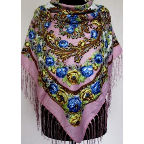Национальный женский платок 168T Лавандовый