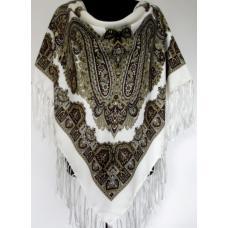 Украинский платок в национальном стиле белый KT467