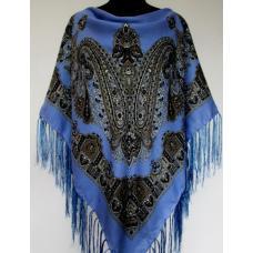 Украинский женский платок синий KT476