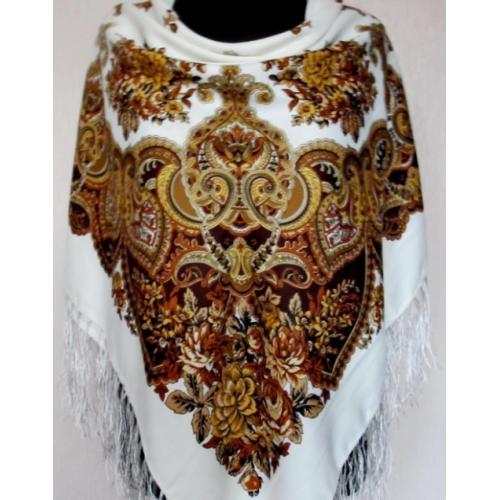 Женский шерстяной платок 211T Белый