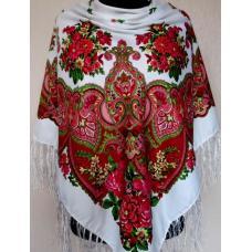 Украинский национальный белый платок 212T