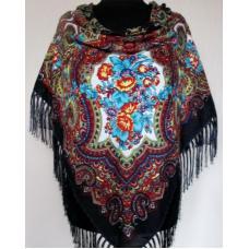 Украинский шерстяной платок 261T Черный