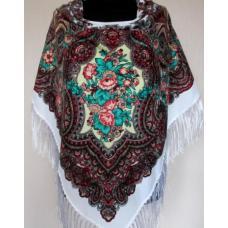 Украинский шерстяной платок 264T Белый