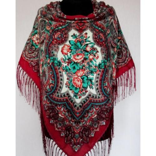 Украинский шерстяной платок 265T Красный