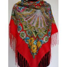 Национальный украинский платок 595T Красный