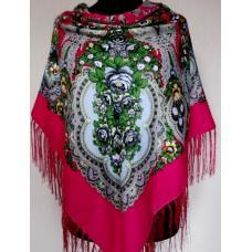 Украинский платок из пашмины 204T Розовый