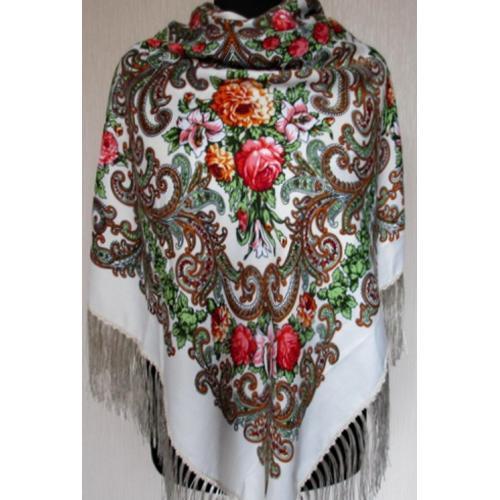 Национальный женский платок 31T Белый