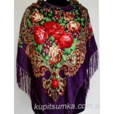 Украинский женский платок 169T Фиолетовый
