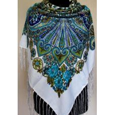 Женский платок в этно стиле 596T Белый