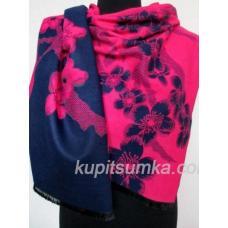 Красивая кашемировая шаль с цветочным принтом 29Т9