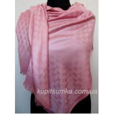 Кашемировый турецкий палантин розового цвета 665П